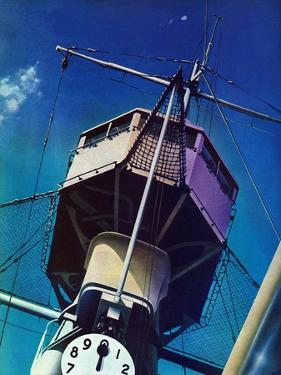 """Tower on Battleship,"" March 9, 1940 by Arthur C. Radebaugh"
