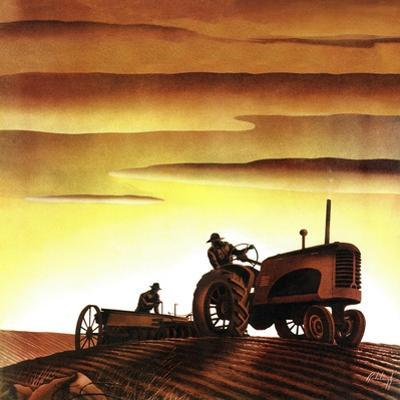 """""""Tractors at Sunset,"""" October 3, 1942"""