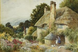 A Cottage at Selworthy, Near Minehead by Arthur Claude Strachan