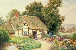 A Cottage by a Duck Pond by Arthur Claude Strachan