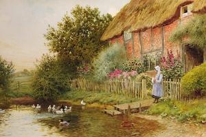 A Rustic Retreat by Arthur Claude Strachan