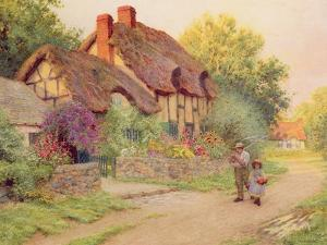 After the Shower: Man with a Scythe by Arthur Claude Strachan