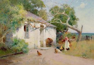 Feeding the Hens, 1894 by Arthur Claude Strachan