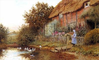 Rustic Retreat by Arthur Claude Strachan