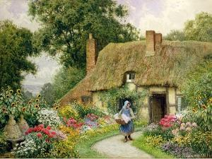 Taking Out the Washing by Arthur Claude Strachan