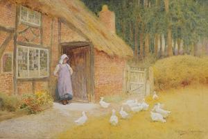 The Goose Girl by Arthur Claude Strachan