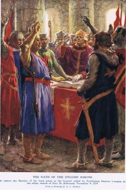 The Oath of the English Barons by Arthur Claude Strachan