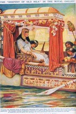 """The """"Serpent of the Nile"""" in Her Galley by Arthur Claude Strachan"""