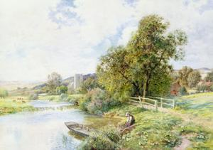 The Young Angler by Arthur Claude Strachan