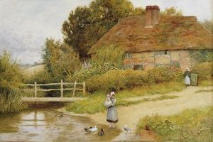 Watching the Ducks by Arthur Claude Strachan