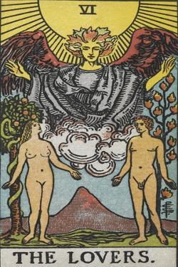 Tarot Card With a Nude Man and Woman by Arthur Edward Waite