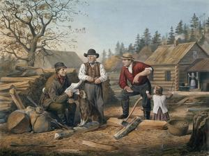 Arguing the Point, Engraved by Nathaniel Currier (1813-88) 1855 by Arthur Fitzwilliam Tait