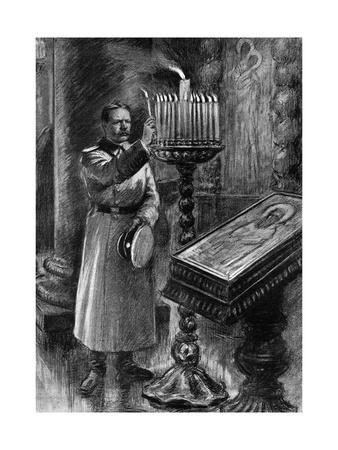 A Serbian Soldier Invoking His Saints before Going to War
