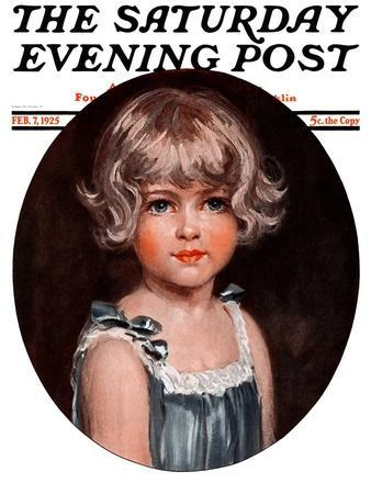 """""""Little Girl in Blue,"""" Saturday Evening Post Cover, February 7, 1925"""