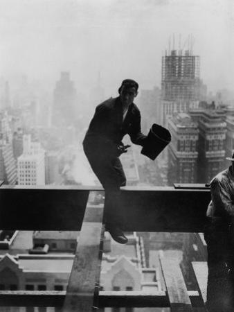 Catcher Astraddle Beams During Skyscraper Construction by Arthur Gerlach