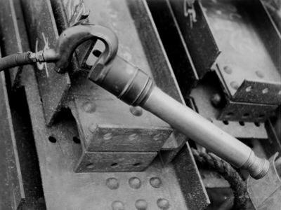 Rivet Gun known as the Cricket on Construction Site of the Manhattan Building Company