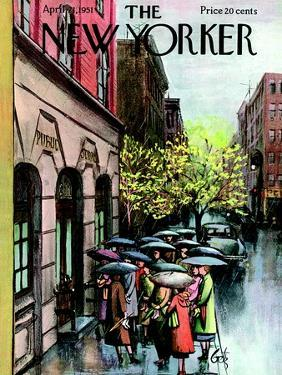 The New Yorker Cover - April 21, 1951 by Arthur Getz