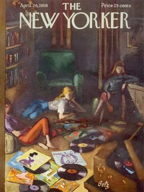 The New Yorker Cover - April 26, 1958 by Arthur Getz