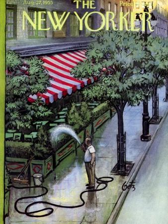 The New Yorker Cover - August 27, 1955 by Arthur Getz
