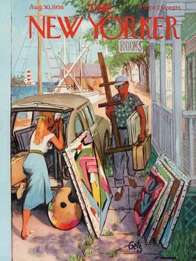 The New Yorker Cover - August 30, 1958 by Arthur Getz