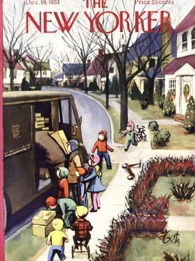 The New Yorker Cover - December 19, 1953 by Arthur Getz