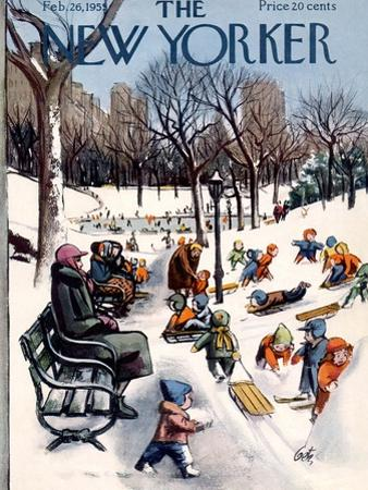 The New Yorker Cover - February 26, 1955 by Arthur Getz