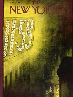 The New Yorker Cover - January 1, 1955 by Arthur Getz