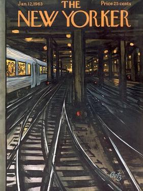 The New Yorker Cover - January 12, 1963 by Arthur Getz