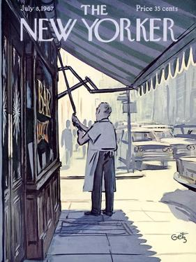The New Yorker Cover - July 8, 1967 by Arthur Getz