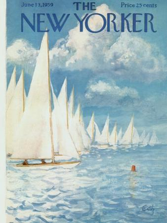 The New Yorker Cover - June 13, 1959 by Arthur Getz