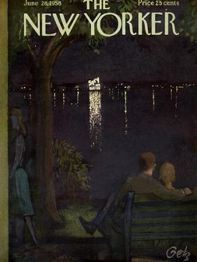 The New Yorker Cover - June 28, 1958 by Arthur Getz