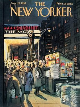 The New Yorker Cover - November 22, 1958 by Arthur Getz