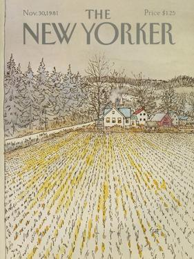 The New Yorker Cover - November 30, 1981 by Arthur Getz