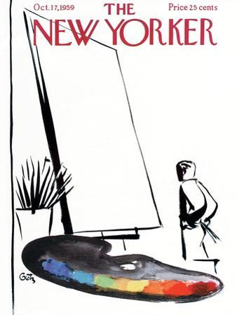 The New Yorker Cover - October 17, 1959 by Arthur Getz