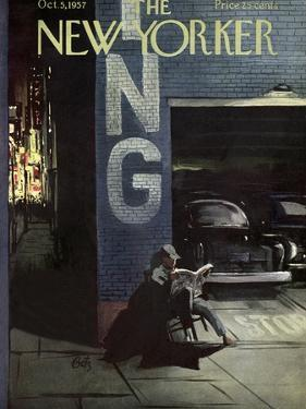 The New Yorker Cover - October 5, 1957 by Arthur Getz