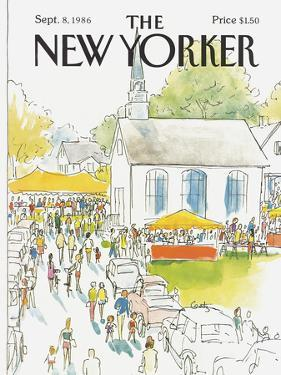 The New Yorker Cover - September 8, 1986 by Arthur Getz