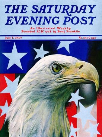 """""""Sam the American Eagle,"""" Saturday Evening Post Cover, July 1, 1939"""