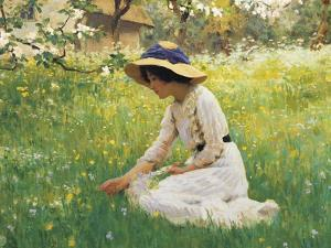 Flower Meadow by Arthur Hacker