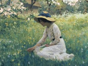 Spring Flowers by Arthur Hacker