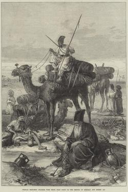 Persian Sketches, Pilgrims with their Dead Going to the Shrines of Kerbala and Meshid Ali by Arthur Hopkins
