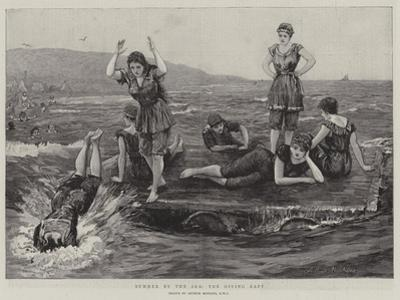 Summer by the Sea, the Diving Raft by Arthur Hopkins