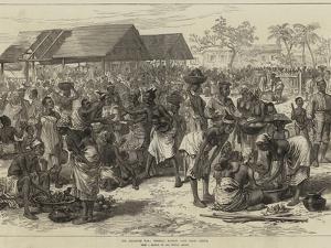 The Ashantee War, General Market, Cape Coast Castle by Arthur Hopkins