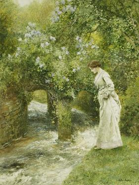 The Mill Stream in Spring by Arthur Hopkins