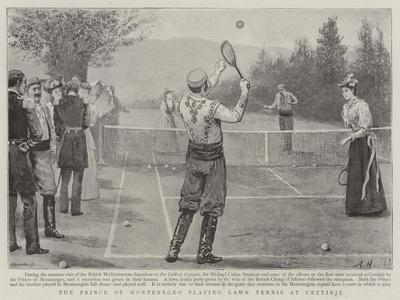 The Prince of Montenegro Playing Lawn Tennis at Cettinje