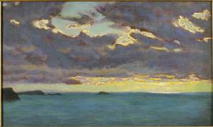 From Pentire Point (Oil on Panel) by Arthur Hughes