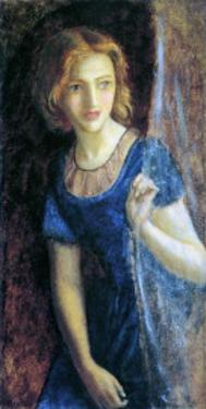 Mariana at the Window, 1865-67 by Arthur Hughes
