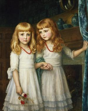 Marjory and Lettice Wormald by Arthur Hughes