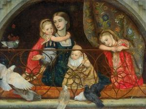 Mrs Leathart and Her Three Children, C.1863-65 by Arthur Hughes