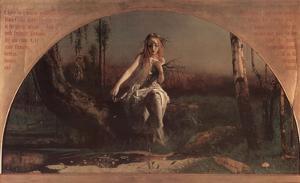 Arthur Hughes (Ophelia) Art Poster Print