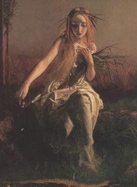 Ophelia (detail) by Arthur Hughes